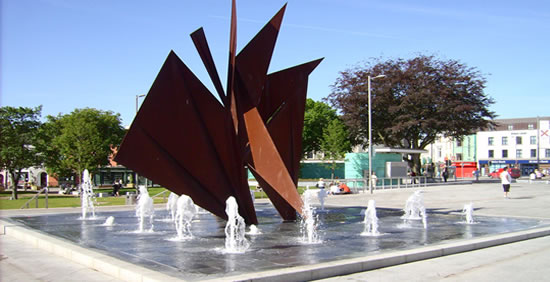 Galway Eyre Sqaure Fountains